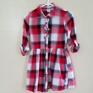 Arizona Jean Checkered Dress. Side Pockets.